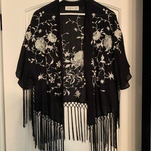 Abercrombie & Fitch Embroidered Kimono